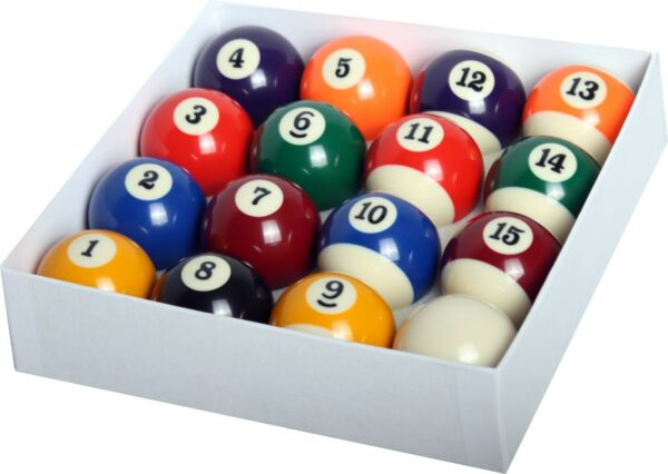 New Billiard Deluxe Pool Ball Set Standard Size 2-14