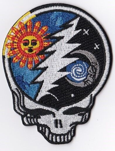 GRATEFUL DEAD - STEEL YOUR FACE  SUN MOON LIGHTNING - IRON or SEW ON PATCH