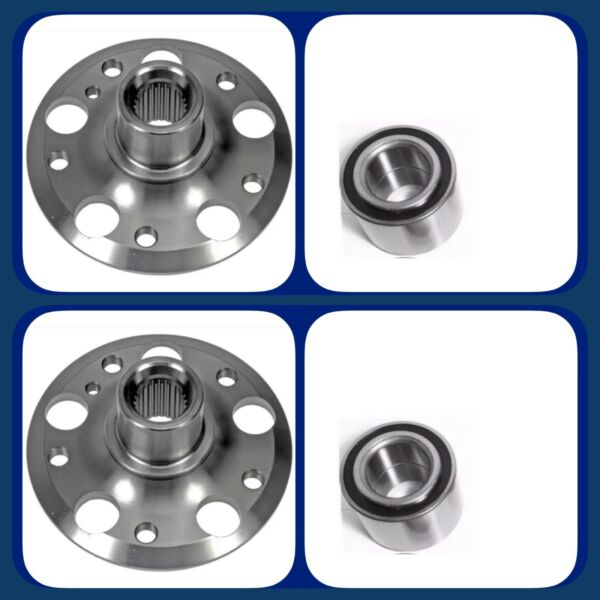 FRONT WHEEL HUB &BEARING FOR MERCEDES C230 C300 AWD 4MATIC PAIR NEW GOOD PRODUCE