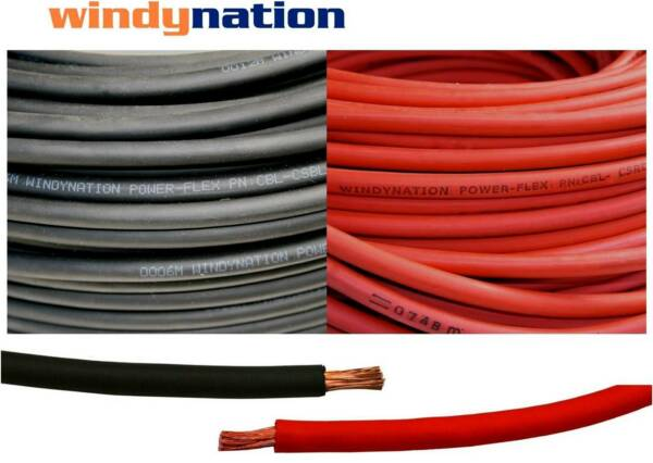 8 6 4 2 10 20 40 Gauge AWG Red & or Black Welding Battery Copper Cable