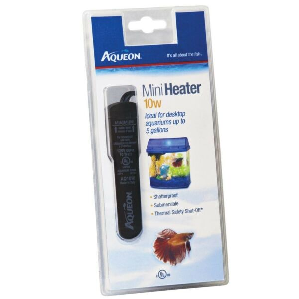 Aqueon 10 watt Mini Heater Betta Tanks & Mini Aquariums (Up To 5 Gallons)
