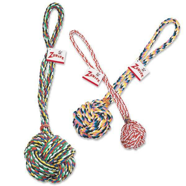 Monkey Fist Knot Rope Dog Toy Ball Handle Fetching Tugging Choose Size