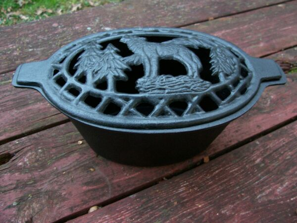 WOLF Cast Iron Wood Stove Steamer  Humidifier for woodstove steam pot heater