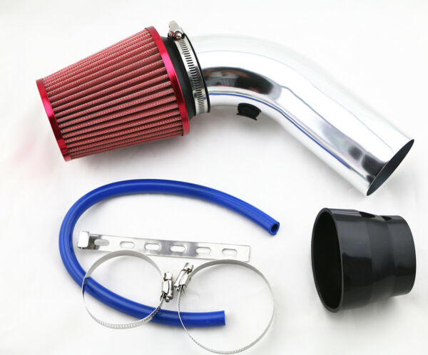 3 Inch Red Aluminum Pipe Car Turbo Piping Cold Air Intake System Filter RR2PC