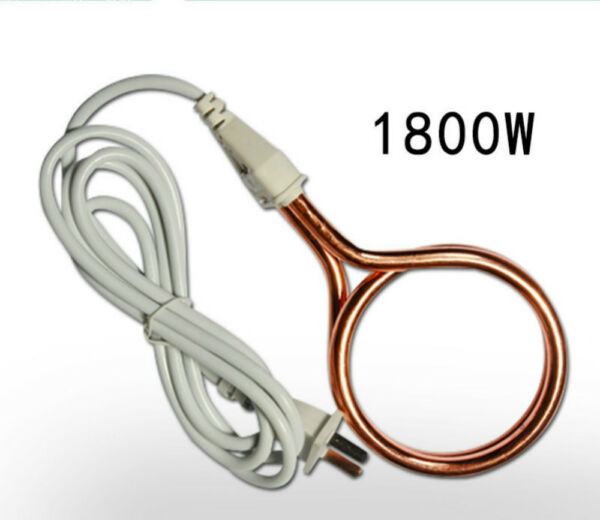 Water Heater Portable Electric Immersion Element Boiler Travel 220V1800W