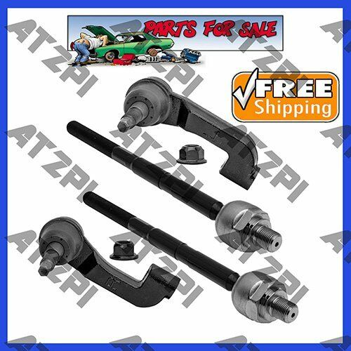 New Front End Steering Kit Tie Rod End Link Inner Outer Set For Jeep Liberty