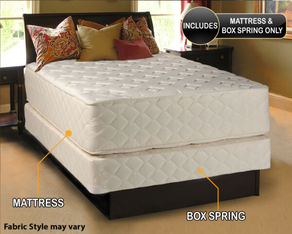 Dream Solutions USA Highlight Luxury Firm Mattress & Box Spring Set -