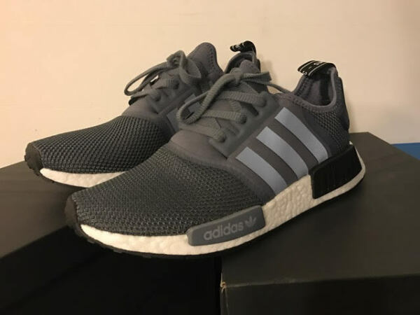 adidas NMD R1 Boost NEW Gray Black S76842 100% AUTHENTIC New