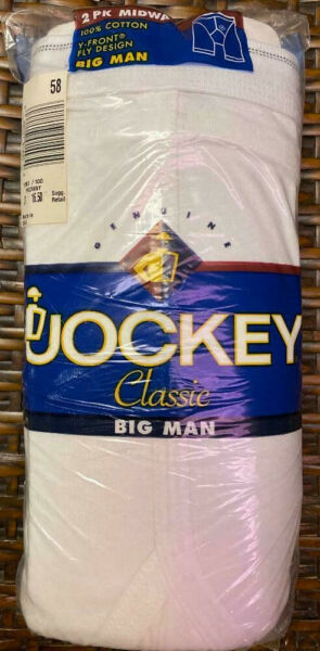 Jockey Classic Big Man Midway Briefs 2 Pack Y - Front Fly Design  48 58 60