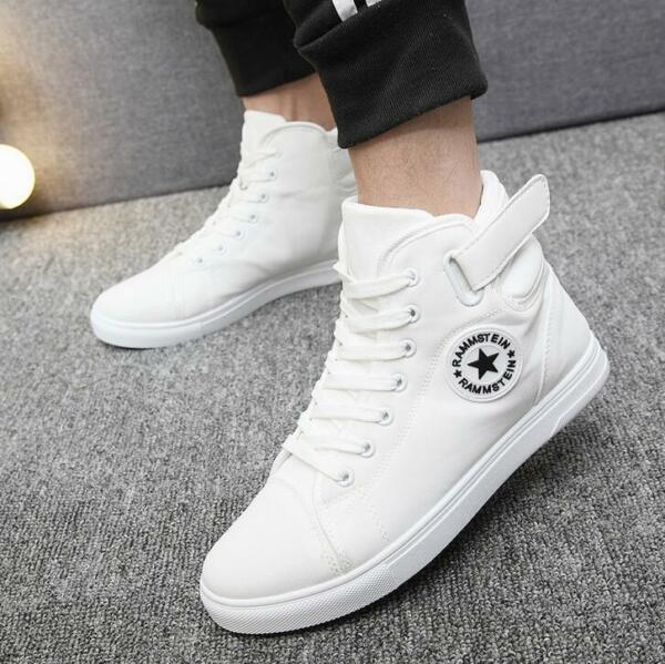 2017 Men's Casual High Top Sneakers Athletic Running Shoes Hip-hop Canvas shoes