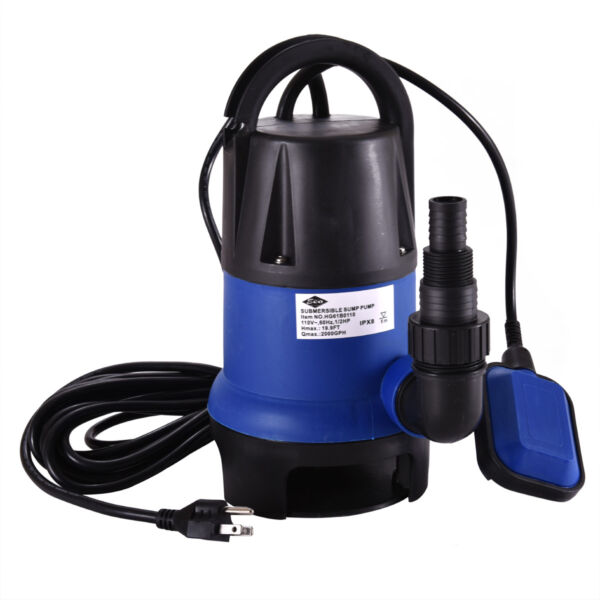 12 HP 2000GPH Submersible Water Pump Clean Clear Dirty Swimming Pool Pond Flood