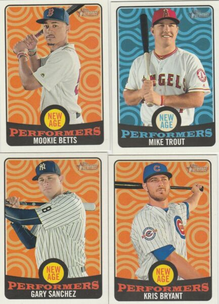 2017 TOPPS HERITAGE BASEBALL NEW AGE PERFORMERS U-PICK COMPLETE YOUR SET
