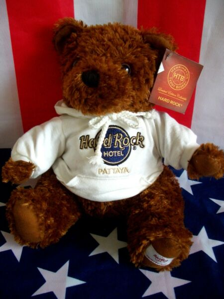 HRC Hard Rock Hotel Pattaya Sweater Hoodie Bear 2011 LE Made by Herrington Cafe