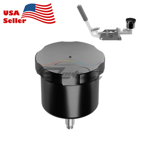 Black CNC Racing Drift Hydraulic Hand Brake Oil Tank Fluid Reservoir E-brake