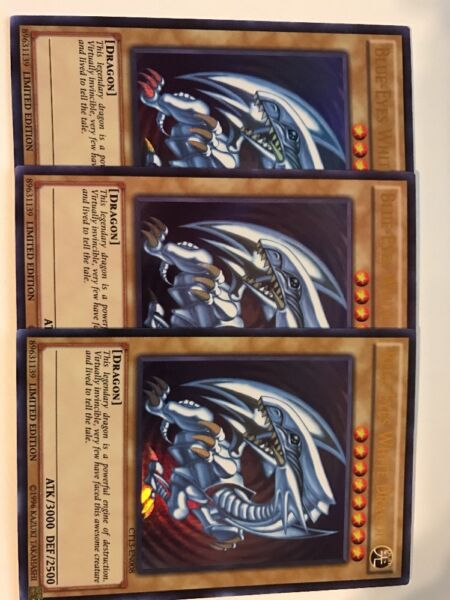 Yugioh (3x) Blue-Eyes White Dragon CT13-EN008 Ultra Rare NM Playset