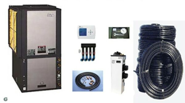 Geothermal heat pump 3 ton 2 stage Climatemaster Install Package TZV036BGD00CRTS