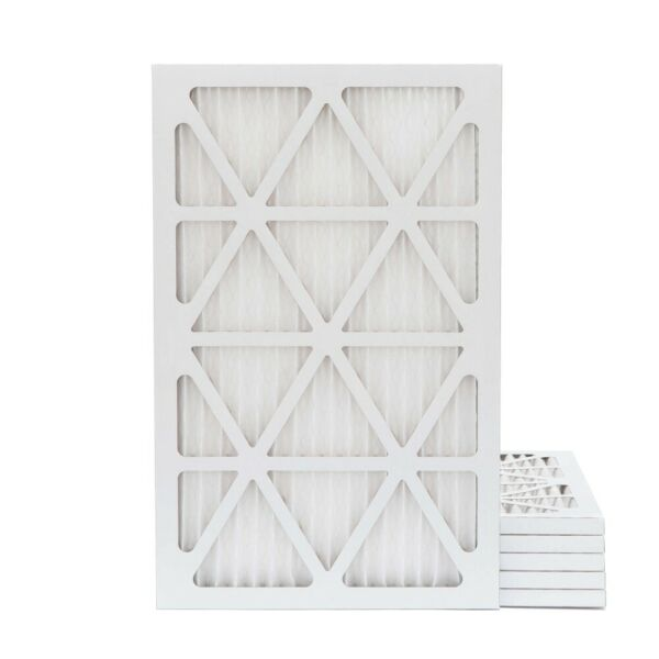 16X25X1 MERV 11 Pleated AC Furnace Air Filters. 6 Pack