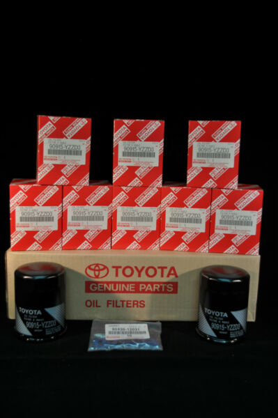 90915-YZZD3, Qty 10, Toyota  Lexus Oil Filters With Drain Plug Gaskets