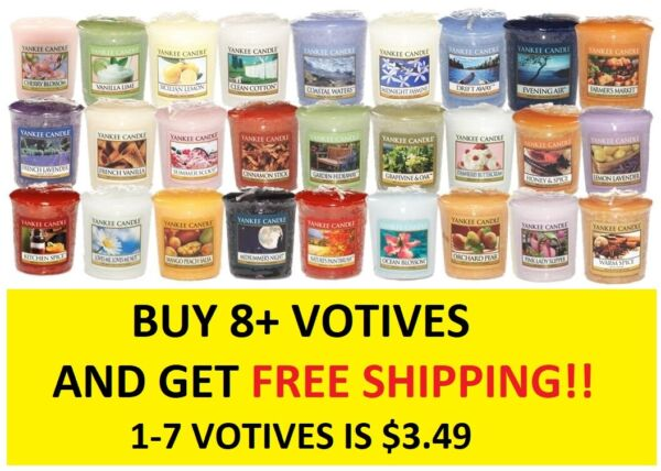 ☆☆VOTIVE CANDLES☆☆YANKEE CANDLE☆☆YOU CHOOSE☆☆BUY 7 OR MORE FOR FREE SHIPPING