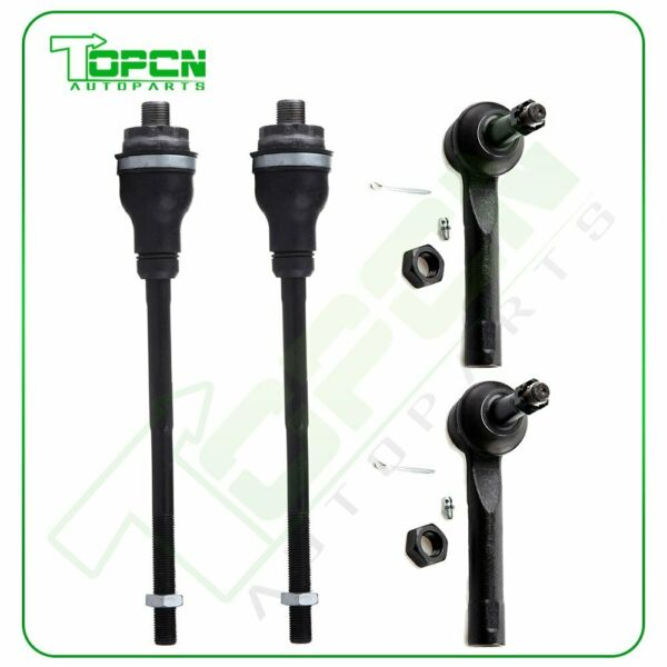 Steering Kit 2 Inner 2 Outer Tie Rods Ends for Chevrolet Silverado 1500 4WD