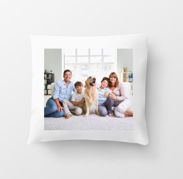 PERSONALISED CUSTOM Cushion Cover 40cm Printed both sides Any Photo Picture text GBP 13.99
