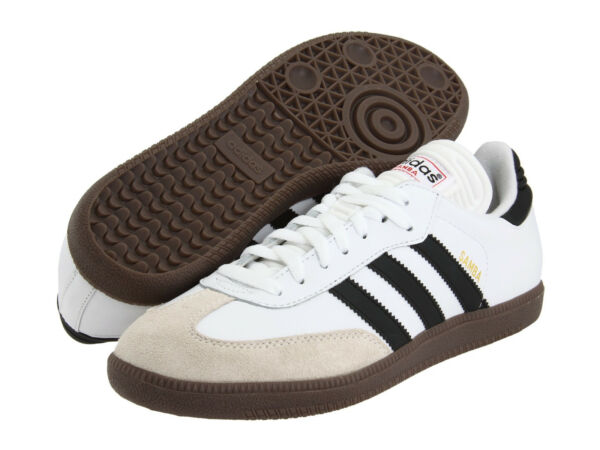 Mens Adidas Samba Classic White Athletic Indoor Soccer Shoe 772109 Size 6.5-13.5