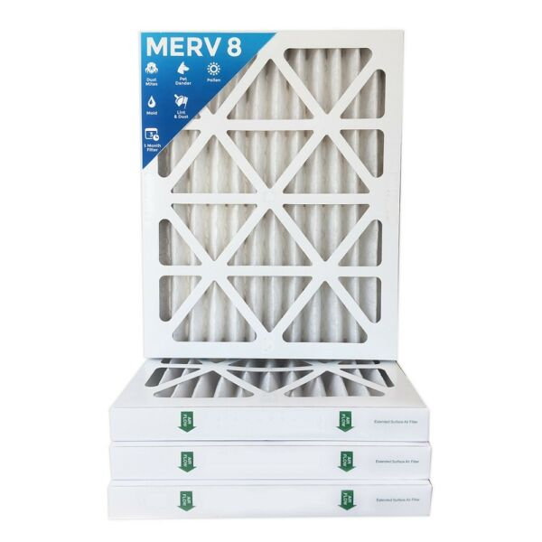 16x25x2 MERV 8 Pleated AC Furnace Air Filters.  10 Pack
