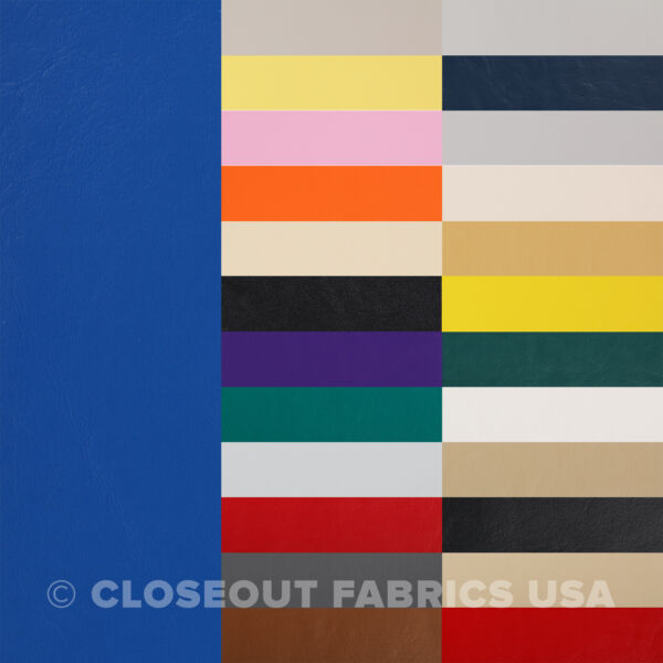 Marine Vinyl Fabric Faux Leather Boat Auto Outdoor Upholstery 33 Colors