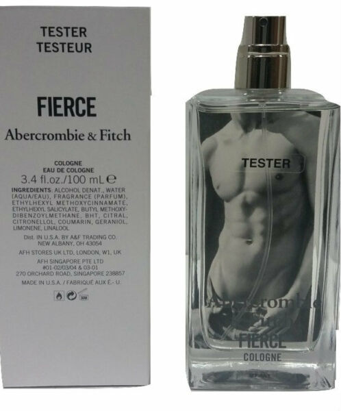 Fierce by Abercrombie and Fitch 3.4 oz EDC Tester for men