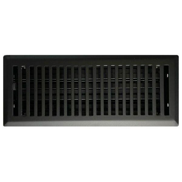 Black Floor Register Vents - Contemporary - 9 Sizes Available NEW Powder Coated