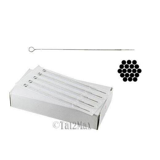 50 PCS 18 Round Shader Pre made Sterile Tattoo Needles 18RS USA SELLER