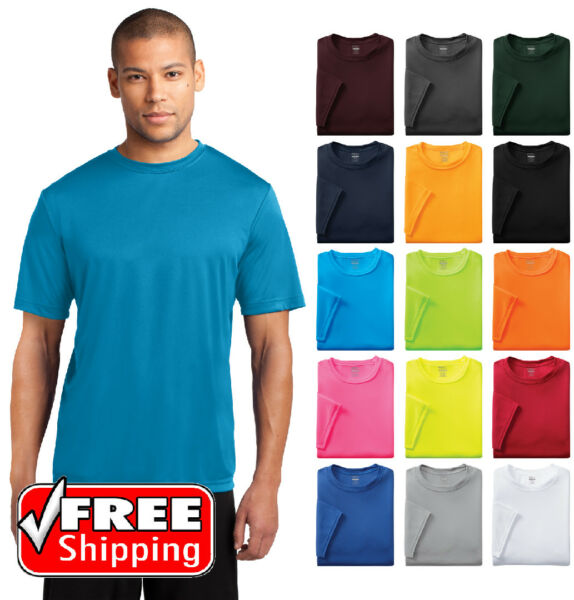 Mens Dri Fit Workout Performance Moisture Wicking Gym Sport T Shirt Dry T PC380