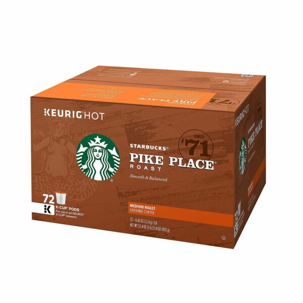 Starbucks Pike Place K-Cups 72 ct Keurig Medium Roast