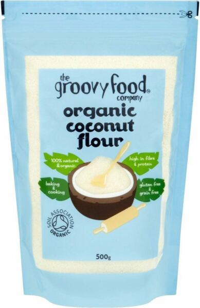 Groovy Foods Noce Di Cocco Biologico Farina 500g (Pack of 2)