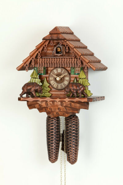 Original 8-Day Cuckoo clockKammererBlack Forest houseBears (i). Hand made