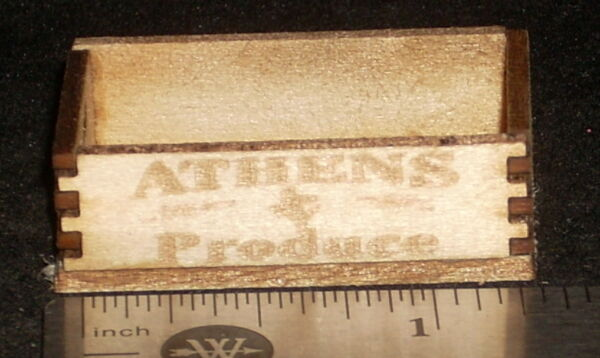 Dollhouse Miniature Athens Produce Crate 1:12 Farm Texas Farmers Market Grocery