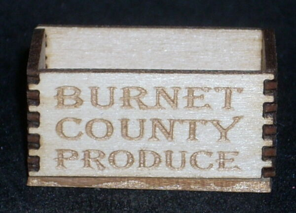 Dollhouse Miniature Burnett County Produce Crate 1:12 Farm Texas Grocery Market