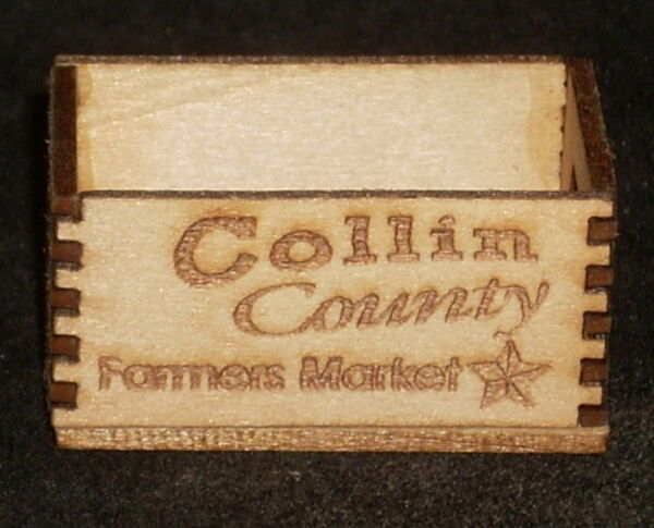 Dollhouse Miniature Collin County Texas Produce Crate 1:12 Market Store Grocery