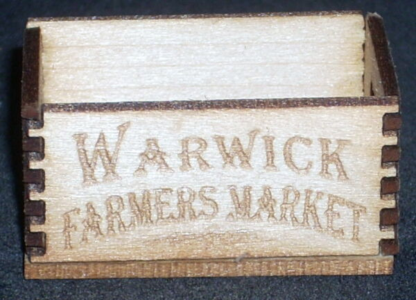 Dollhouse Miniature Warwick Produce Crate 1:12 Store Market Farmers Grocery