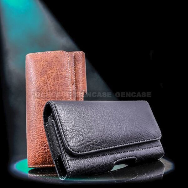 Horizontal Leather Cell Phone Pouch Wallet Case Holder Belt Clip Holster Cover $8.90