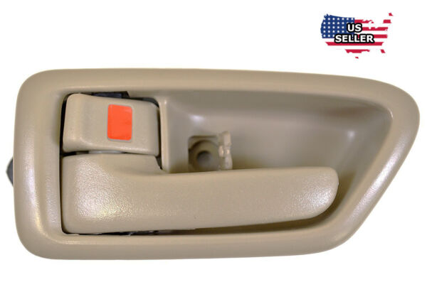 Inside Tan Front / Rear Left Driver Side Door Handle for 1997-2001 TOYOTA CAMRY