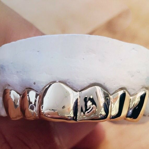 REAL Silver 925 Grillz Custom Fit Grill to Your Teeth