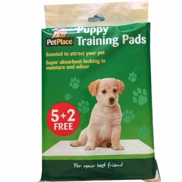 1x Pet Place Puppy Training Pads 5 2 Free Scented Super Absorbent GBP 4.69