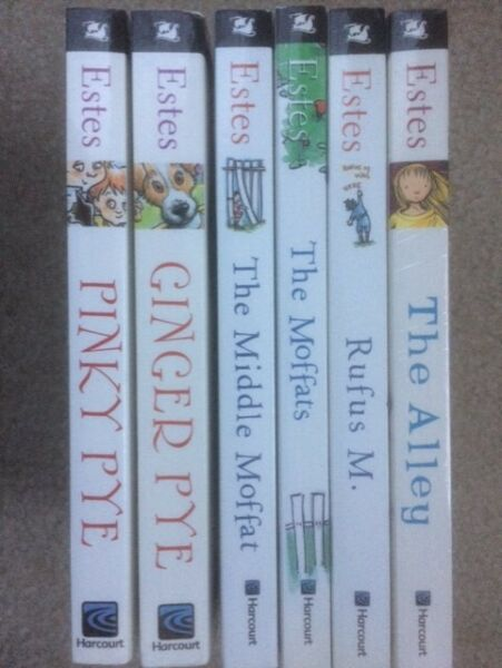 Eleanor Estes collection lot: Ginger Pye Pinky Pye Moffats Rufus Alley 6 PBs