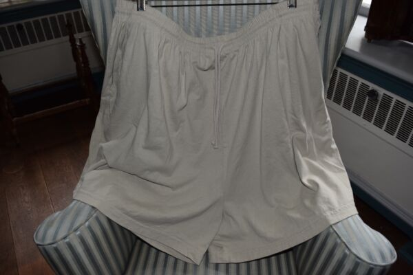 NWT!  FRESH PRODUCE 100% COTTON  JERSEY SHORTS IN NATURAL (3X)...SO COMFY