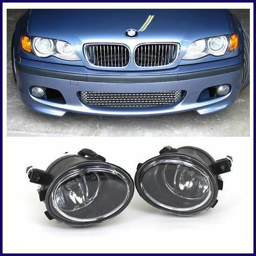 BMW E46 MTECH M TECH STYLE FRONT BUMPER W/ CLEAR FOG LIGHTS 1999-2005 SEDANS