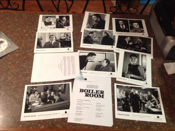Movie! Press kit film photo mini poster THE BOILER ROOM wall street. Vin Diesel