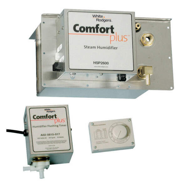 WHITE-RODGERS Furnace HumidifierSteam120V HSP 2000 Silver