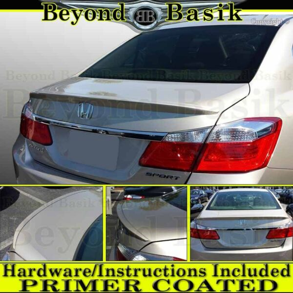 Honda ACCORD 2013 2014 2015 2016 2017 4DR Sedan Factory Style Spoiler PRIMER
