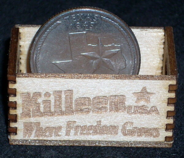 Killeen Where Freedom Grows Wood Crate 1:12 Miniature Texas Farm Market Grocery